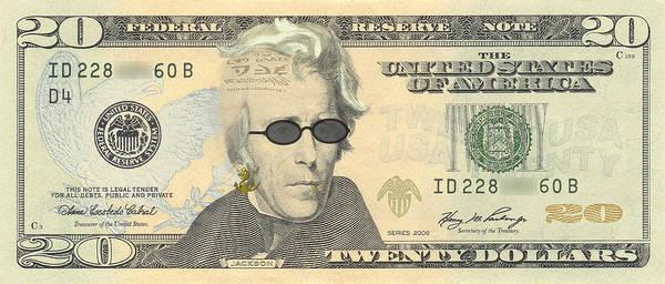 Punk 20 Dollar Bill Poster