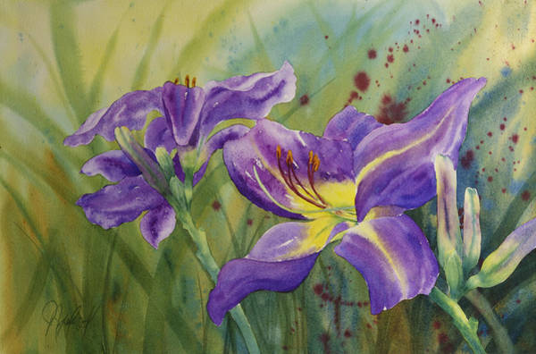Purple Day Lily Poster
