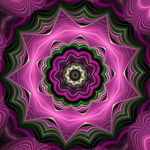 Purple Haze Kaleidoscope Poster