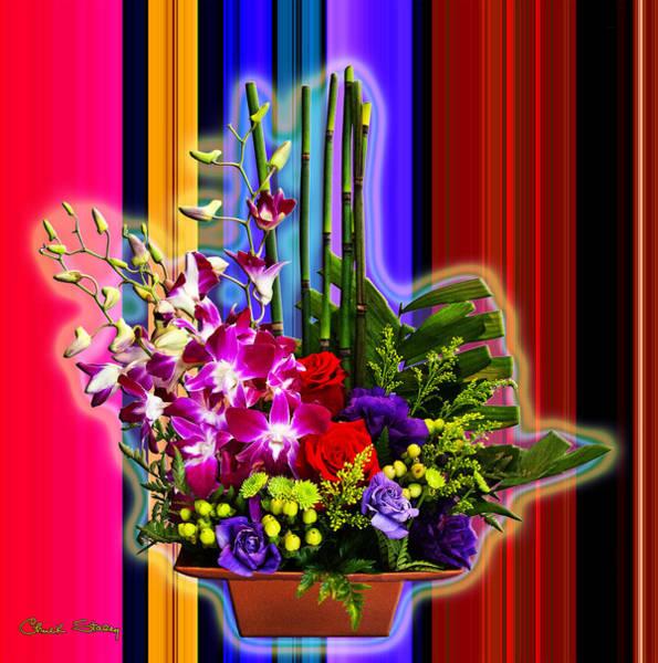 Purple Lady Flowers Poster