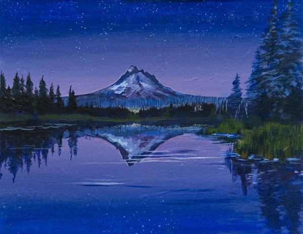 Purple Mountain Poster