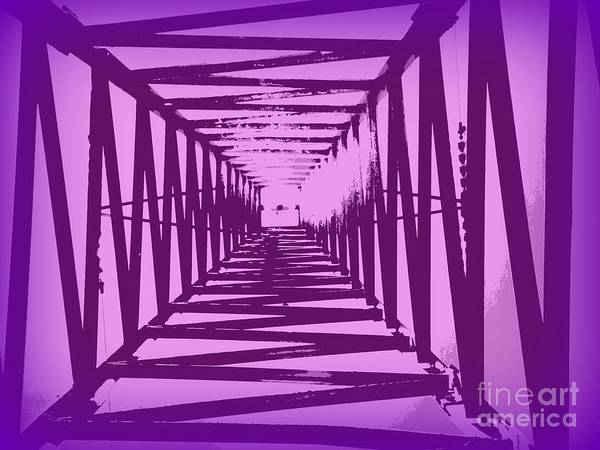 Purple Perspective Poster