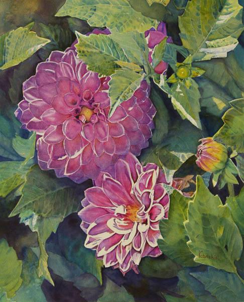 Purple Pinwheels Poster