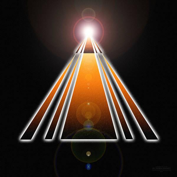 Pyramid Of Light Poster