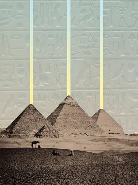 Pyramids Hieroglyphs Spotlights Poster