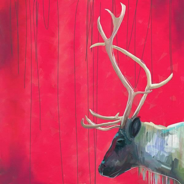 Quiet Reindeer Poster