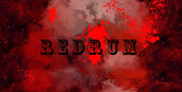 R E D R U M - Featured In Visions Of The Night Group Poster
