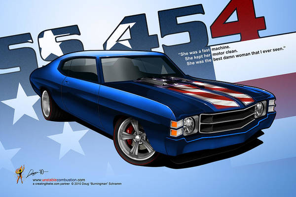 Race Chevelle Poster