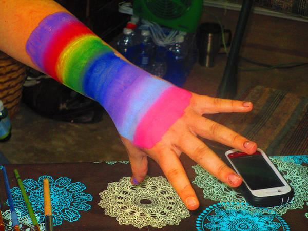 Rainbow Arm Poster