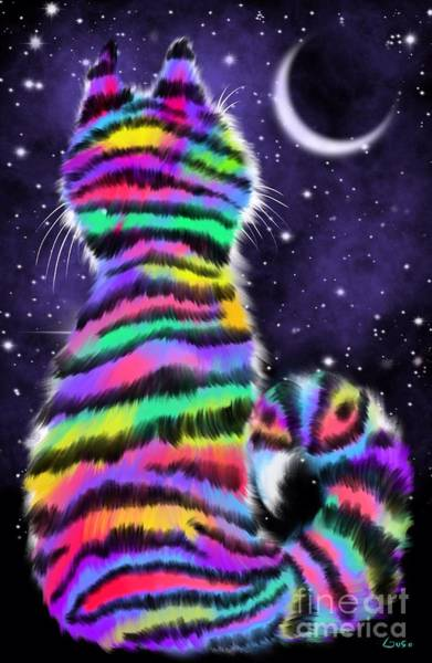 Rainbow Tiger Cat Poster