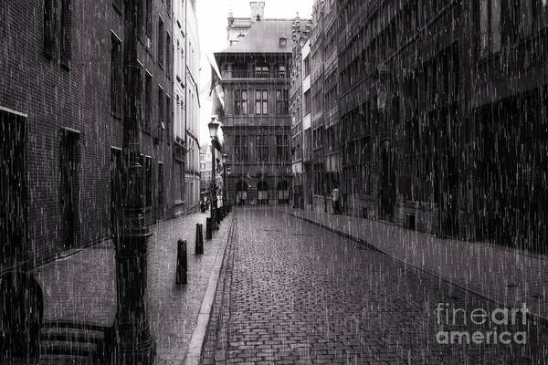 Raining In Amsterdam Poster