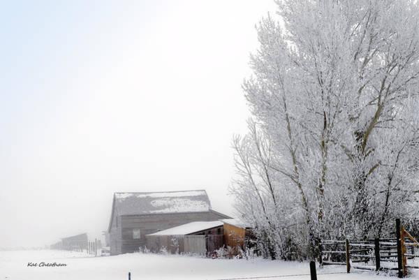 Ranch In Frozen Fog Poster