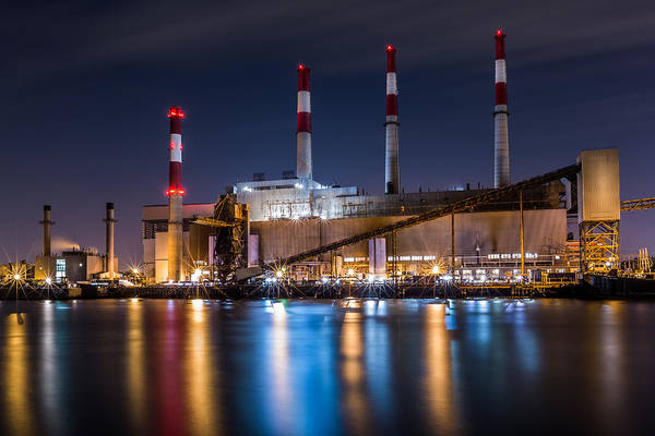 Poster featuring the photograph Ravenswood Generating Station by Mihai Andritoiu