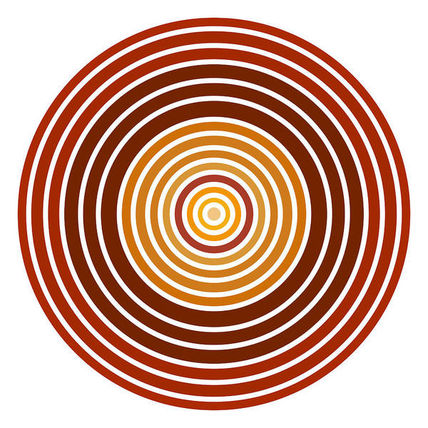 Red Abstract Circle Poster