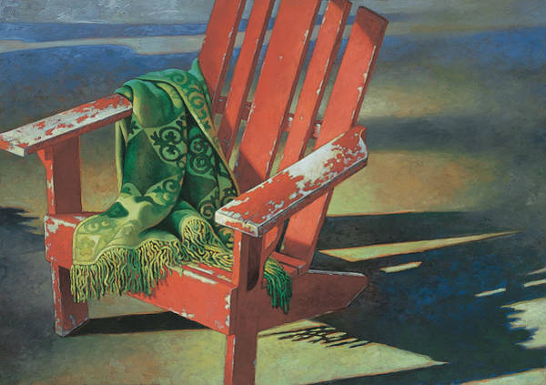 Red Adirondack Chair Poster