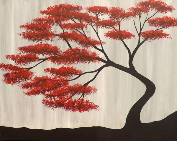Red Bonsai Poster
