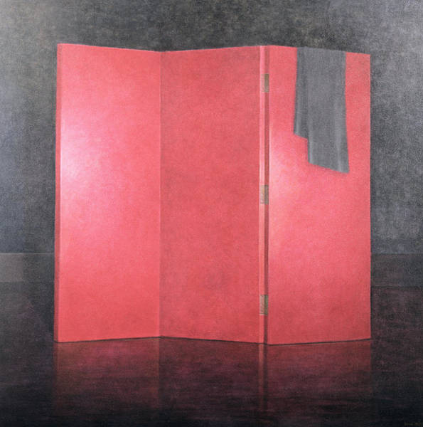 Red Screen, 2005 Acrylic On Canvas Poster