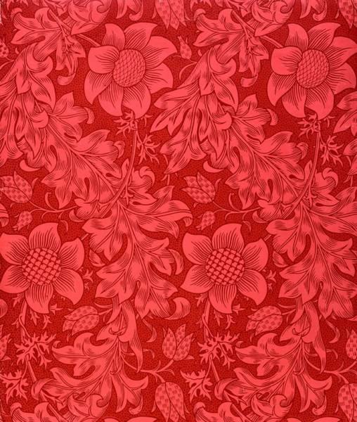 Red Sunflower Wallpaper Design, 1879 Poster