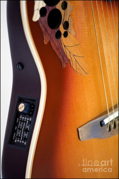 Redish-brown Guitar Poster
