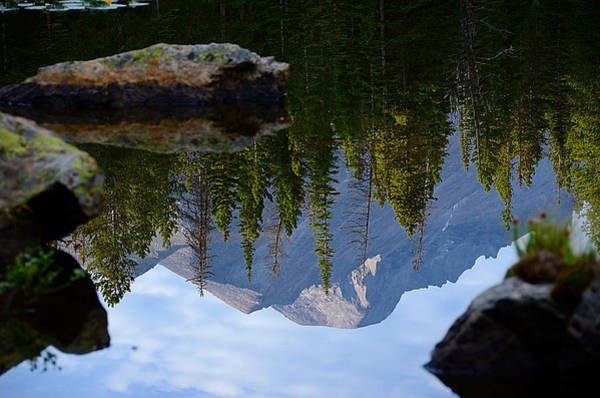 Reflection Of Longs Peak Poster
