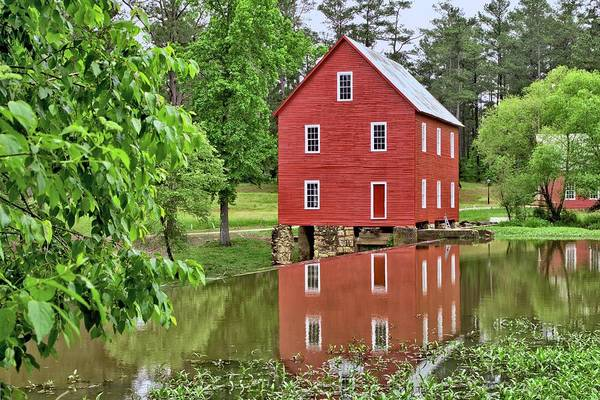 Reflections Of A Retired Grist Mill Poster