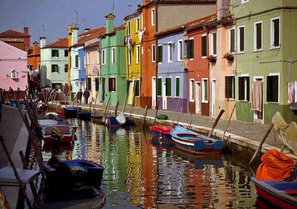 Reflections Of Burano Poster
