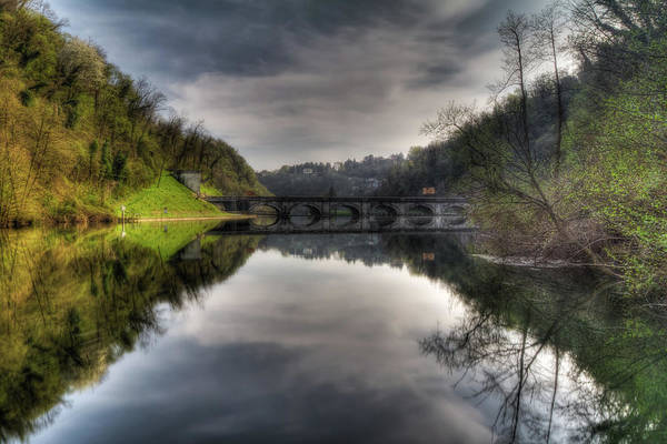 Reflections On Adda River Poster
