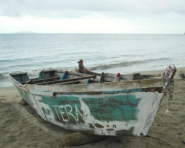 Resting Fishing Boat Poster