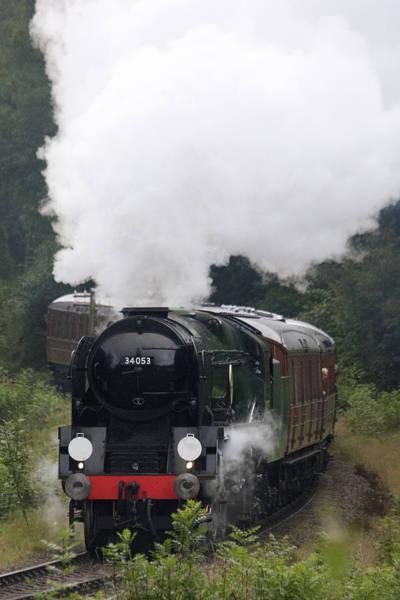 Restored Steam Engine 34053 Poster