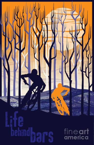 Retro Mountain Bike Poster Life Behind Bars Poster