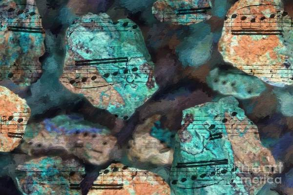 Poster featuring the digital art Riff On The Rocks by Lon Chaffin