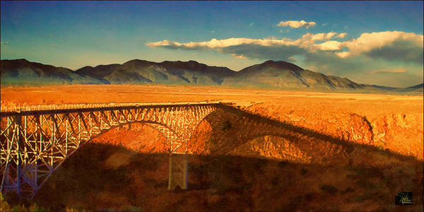 Rio Grande Gorge Bridge Heading To Taos Poster