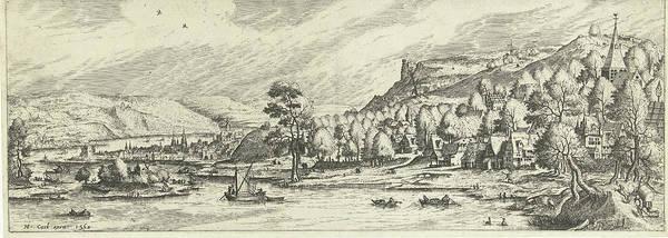 River Landscape, Print Maker Johannes Of Lucas Van Doetechum Poster
