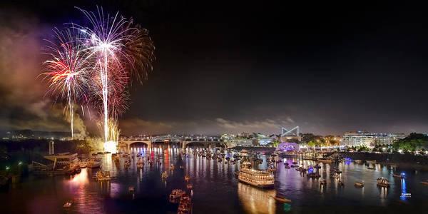 Riverbend Fireworks Poster