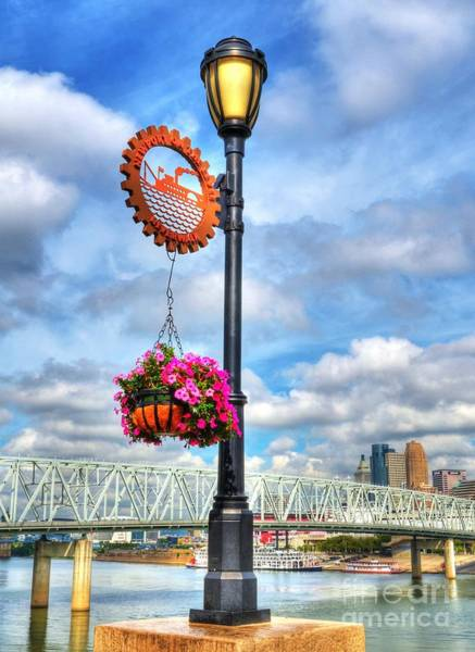 Poster featuring the photograph Riverboat Lamp by Mel Steinhauer