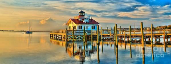 Roanoke Marsh Lighthouse Dawn Poster