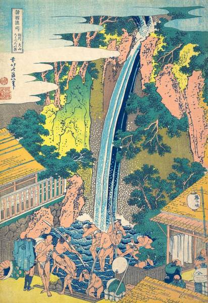 Roben Waterfall At Oyama In Sagami Province Poster