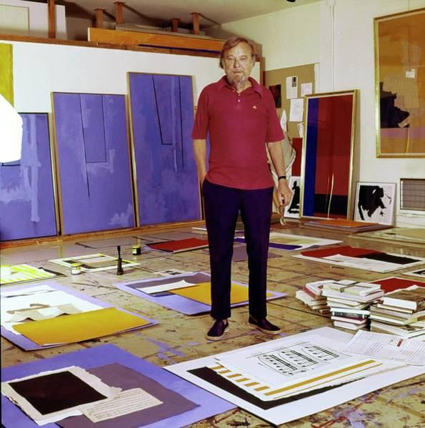 Robert Motherwell In His Studio Poster