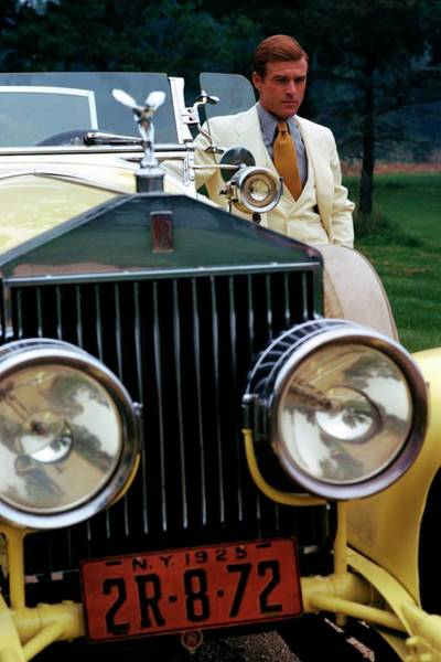 Robert Redford By A Rolls-royce Poster