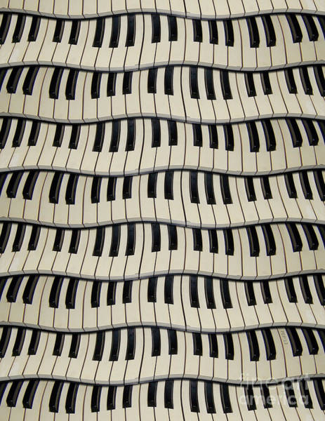 Rock And Roll Piano Keys Poster