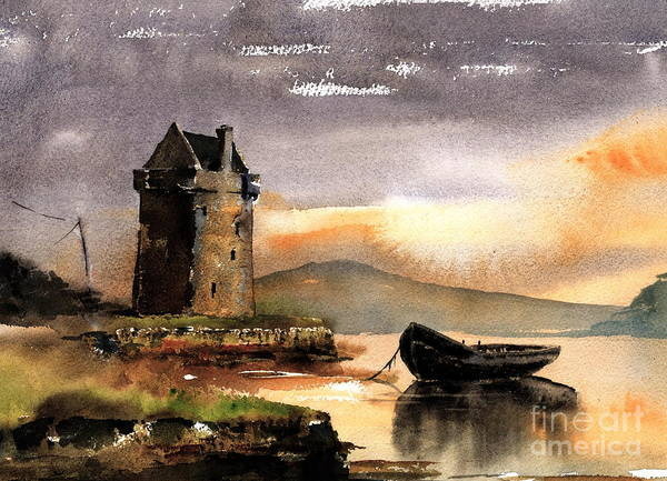 Rockfleet Castle In Mayo Poster
