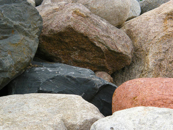 Rocks In Various Colors Poster