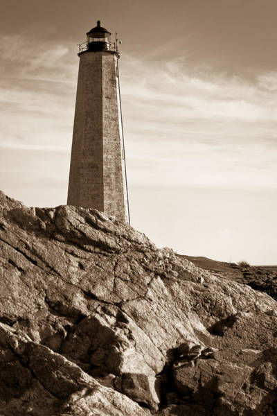 Rocky Lighthouse Poster