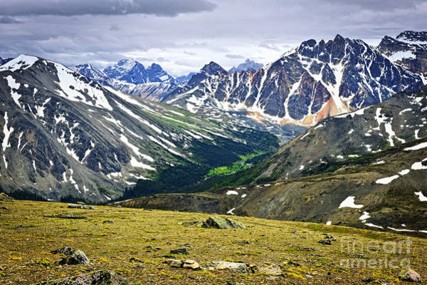 Rocky Mountains In Jasper National Park Poster