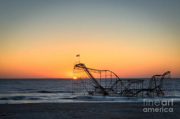 Roller Coaster Sunrise Poster
