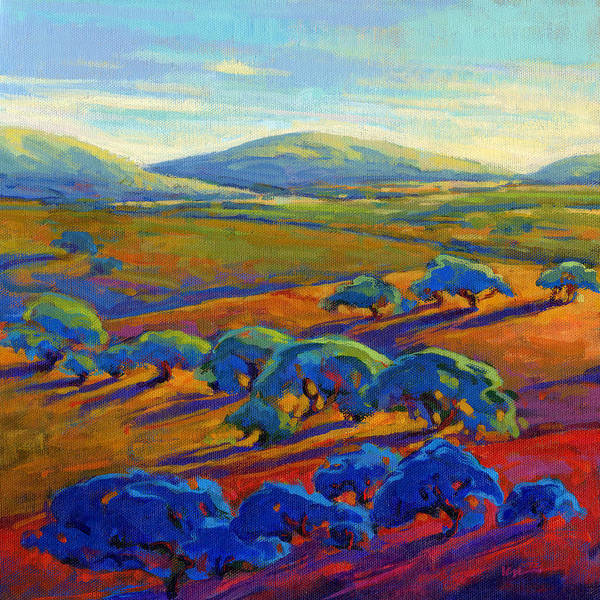 Poster featuring the painting Rolling Hills 2 by Konnie Kim