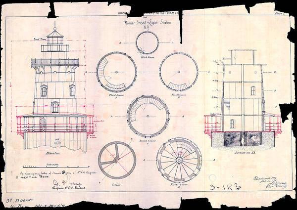 Romer Shoal Light Station Circa 1838 Poster