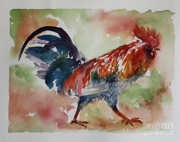 Poster featuring the painting Rooster by Wendy Ray