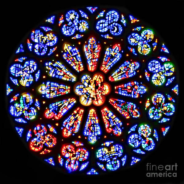 Rose Window Of Grace Cathedral By Diana Sainz Poster