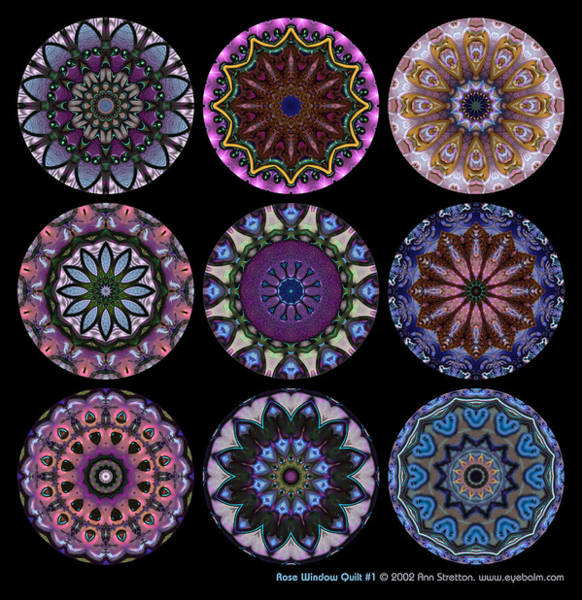 Rose Window Quilt 1 Poster